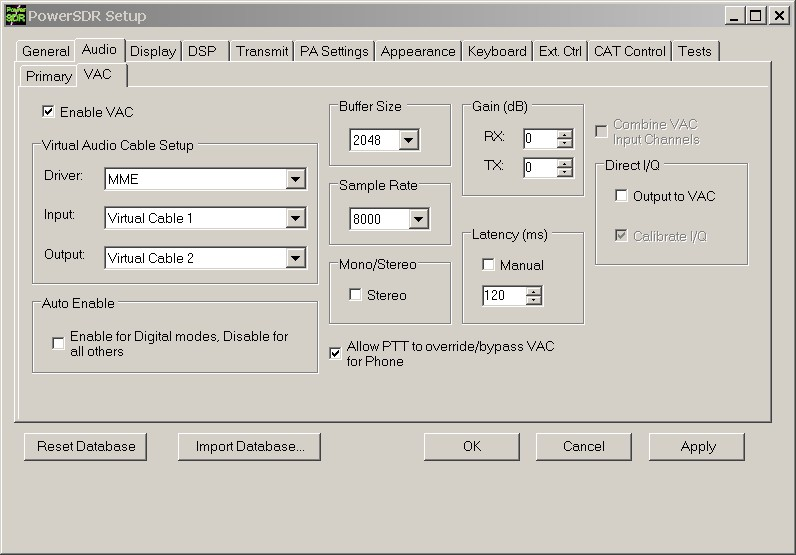 В программе PowerSDR нажимаем